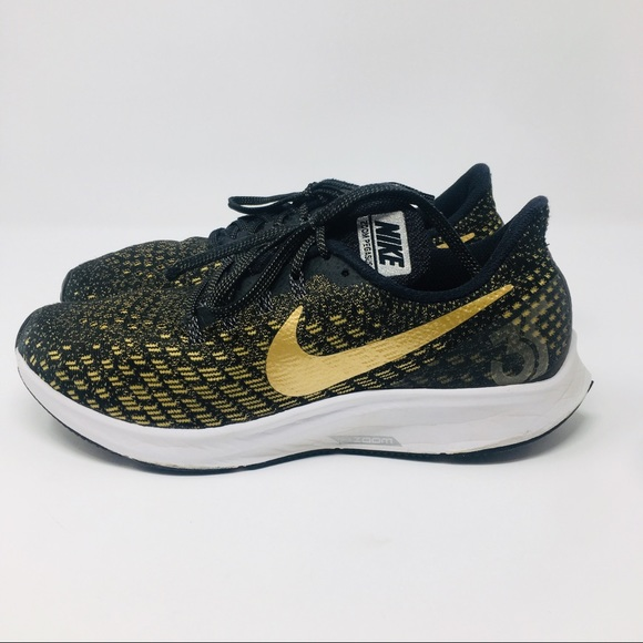 Nike Air Zoom Pegasus 35 Black Gold Running Shoes